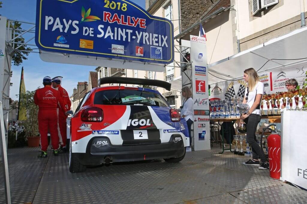 Rallye de saint yrieix 2019 - podium