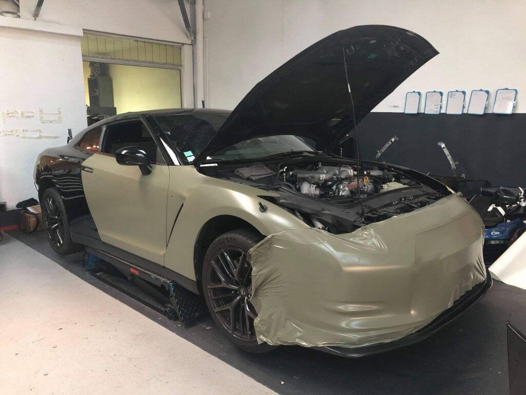 Covering personnalisé sur Nissan GTR