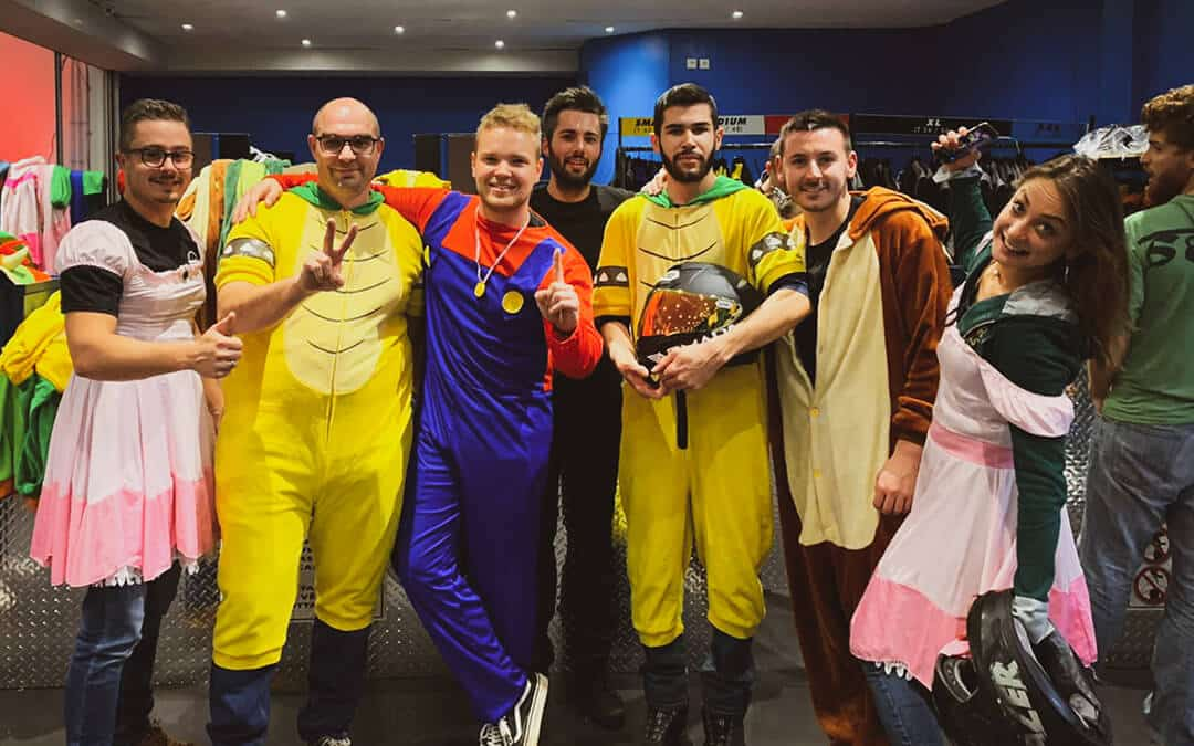 équipe armada racing au paris kart indoor